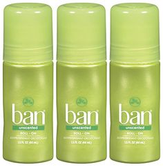 Ban RollOn Deodorant Unscented  15 oz  3 pk * See this great product.