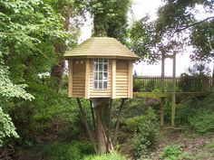 The Ultimate tree-house, with suspension bridge access