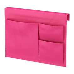 IKEA - STICKAT, Bed pocket, , Clever storage solution that you can hang on our children's beds.Three pockets in different sizes make it simple to organize both bigger and smaller items.You can easily wipe off lighter stains with a damp cloth, or hand-wash at 100°F/40°C.
