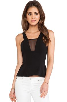 Black Vest with Mesh and Zipper Details
