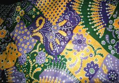 2 Vintage Fabric Remnants: 9 Yards Total  Purple/Gold Floral, Gold/Red Plaid