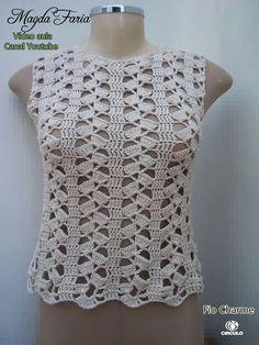 Fabulous Crochet a Little Black Crochet Dress Ideas. Georgeous Crochet a Little Black Crochet Dress Ideas. Black Crochet Dress, Crochet Blouse, Crochet Lace, Crochet Stitches, Free Crochet, Crochet Patterns, Crochet Teddy, Diy Crafts Crochet, Crochet World