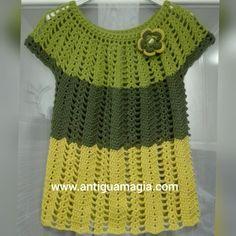 Jersey verde crochet de AntiguaMagia en Etsy