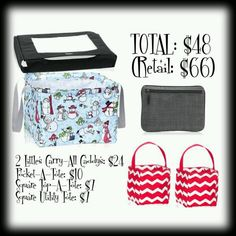 Get this square utility tote only in November 2014! Spend $35 and get the tote for just $7! https://www.mythirtyone.com/johnnyhurley