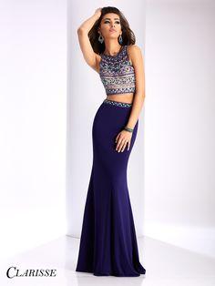 Clarisse Prom 3020 Purple High Neckline Prom Dress