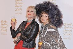 """Edina and Patsy crash the British Fashion Awards: """"I am in my spiritual home. Shout out to all my homies,"""" Saunders told a cheering crowd."""