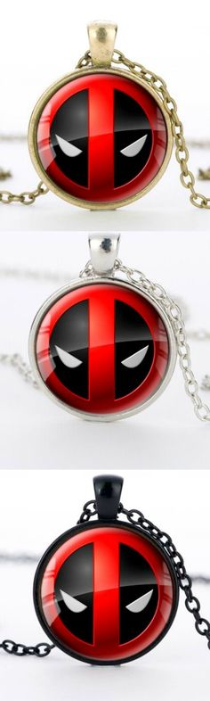 Deadpool Silver Round Dome Necklace! Click The Image To Buy It Now or Tag Someone You Want To Buy This For.  #Deadpool