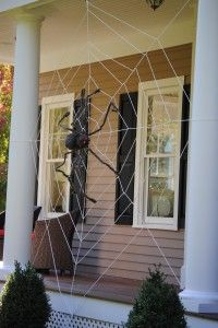 Step by step guide to making a front porch spider web