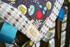 Quilted Baby Tag Blanket/Lovey/Sensory Toy: Giraffe Garden.