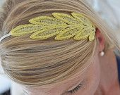 Lace Headband, lace leaf, bridesmaid headband, vintage accessories, bridal headband, bridal party gift