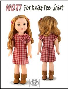 Forever 18 Inches NOT! For Knits Tee-Shirt Doll Clothes Pattern For 14.5 Inch Dolls | Pixie Faire