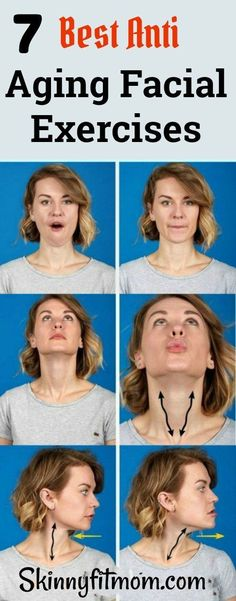 7 Best Anti Aging Facial Exercises To Reduce Wrinkles and Tighten Loose Skin #facialexercise