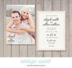 Wedding Invitation $12.00 by Vintage Sweet Designs on Etsy  vintagesweetdesign.etsy.com  mint | coral | gray | charcoal | peach | invitation | floral | navy | vintage | beach wedding | spring wedding | arrow | diy | printable | reception | heart