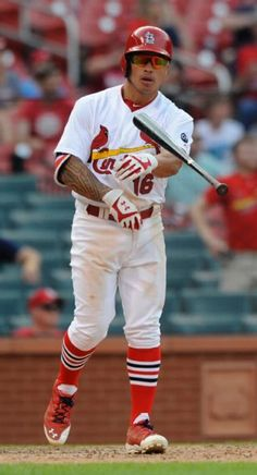 St. Louis Cardinals Team Photos - ESPN St. Louis Cardinals' Kolten Wong (16) flips his bat after hitting a walk-off home run against the Pittsburgh Pirates in the fourteenth inning in a baseball game, Sunday, May 3, 2015, at Busch Stadium in St. Louis. (AP Photo/Bill Boyce)