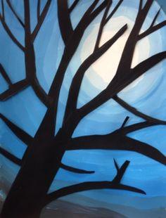 Un an d'Arts Plastiques en Segpa (ou cycle III)  Fantastique! Constellation Craft, 5th Grade Art, Ecole Art, Winter Art, Tree Crafts, Art Classroom, Art Club, Winter Scenes, Art Plastique