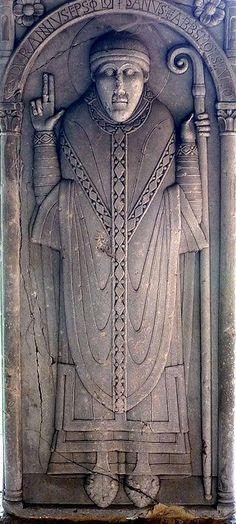 Placa de Durand de Bredons, primer abad de Moissac.