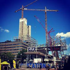 Utrecht Centraal onder constructie