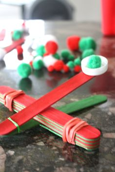 Christmas theme catapult activty Holiday STEM