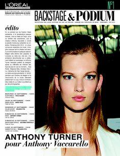 La Semaine de la Mode démarre à Paris avec les coiffures du talentueux hairstylist Anthony Turner pour le défilé Anthony Vaccarello ! #LOrealPro #PFW