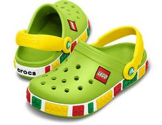 Crocband Kids Lego Crocs in Volt Green & Yellow *swoon* - from the SS13 collection