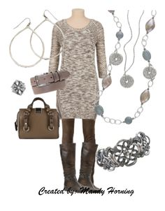 Fall/winter outfit Accessorized with Marine necklace, Julia earrings