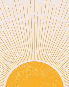 Yellow Sun, Mellow Yellow, Wall Collage, Wall Art, Rise Art, Iphone Background Wallpaper, Sun Background, Sun Art, Cute Patterns Wallpaper