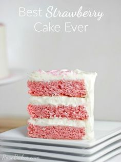 Best Strawberry Cake