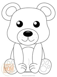 Add some fun to learning the Letter B with this free printable forest bear coloring page. Whether he's a cute bear cub or a grizzly brown bear, this adorable forest animal makes an ideal art project for toddlers and preschoolers. It's even a perfect chance to create your own three little bears, thanks to the easy outline and design. Click to get your printable bear coloring page template today! #Bearcoloringpages #Forestanimalcoloringpages #Coloringpages #Papercraftsforkids #SimpleMomProject Squirrel Coloring Page, Teddy Bear Coloring Pages, Animal Coloring Pages, Coloring Book Pages, Coloring Pages For Kids, Coloring Sheets, Forest Animal Crafts, Bear Crafts, Animal Crafts For Kids