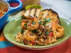 Risotto Scampi Fra Diavolo Recipe | Jeff Mauro | Food Network
