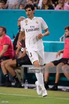 Real Madrid's Jesus Vallejo during the International Champions Cup soccer game between Manchester United FC and Real Madrid CF on July 2018 at the Hard Rock Stadium in Miami Gardens, Florida. Gardening For Dummies, International Champions Cup, Organic Gardening Magazine, Miami Gardens, Tomato Cages, Soccer Games, Organic Plants, Tomato Plants, Equipment For Sale