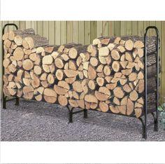 Outdoor Firewood Rack Wood Log Storage Sturdy Tubular Steel from Hearts Attic. Firewood Rack Plans, Firewood Stand, Outdoor Firewood Rack, Firewood Logs, Firewood Holder, Firewood Storage, Log Holder, Winter Survival, Tubular Steel