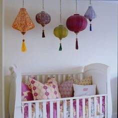Nursery with bohemian touches
