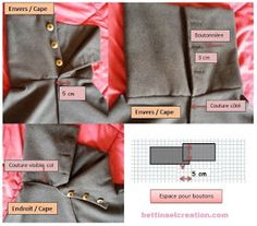 Bettinael.Passion.Couture.Made in france: DIY: Cape/ Poncho, tutoriel couture gratuit Clothing Patterns, Sewing Patterns, Cape Pattern, Diy Couture, Sewing Clothes, Sewing Hacks, African Fashion, Sweatshirts, Fabric