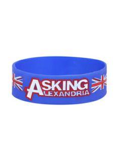 Asking Alexandria Union Jack Rubber Bracelet
