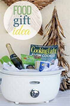 DIY Crockpot Gift Basket - Cute idea for Foodies via Tonya Staab - Do it Yourself Gift Baskets Ideas for All Occasions - Perfect for Christmas - Birthdays or anytime!