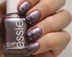 Gradient: A England - Sleeping Palace & Princess Tears. Stamping: Essie - Nothing Else Metals and Bundle Monster stamping plate BM-406