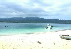 Beach view at Peucang island Ujung Kulon