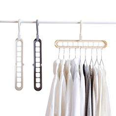 THETAG Magic Clothes Hanger Organizer, 5 PCS Rotate Anti-skid Folding Hanger with Multifunction Space Saving and Cascading Features with 9 Holes Cascading Wardrobe Closet Coat Hangers Closet Shoe Storage, Wardrobe Storage, Wardrobe Closet, Closet Organization, Metal Clothes Rack, Clothes Drying Racks, Clothes Hanger, Cloth Drying Hanger, Placard Design