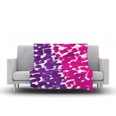 "Emine Ortega ""Fleeting Purple"" Fleece Throw Blanket"
