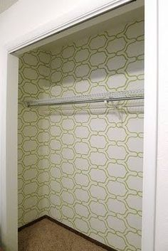 Love this stencil pattern for a small space
