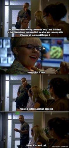 Best Morgan and Garcia moment on criminal minds
