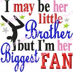 I may be her little Brother but I'm her Biggest by LilliPadGifts