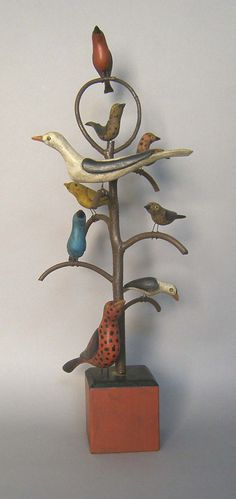 bird tree in the style of Simmons...