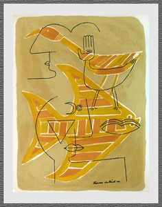 traces interstices (lithograph) by victor brauner, 1963