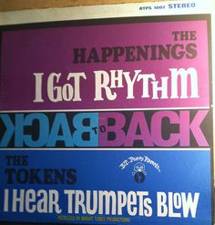 The Happenings & The Tokens Back To Back Vinyl Record Album