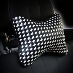 Bone Shaped Car Headrest Pillow with Braided Leather - Carsoda - 1