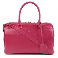 Saint Laurent Small leather duffel bag — www.VeryFirstTo.com