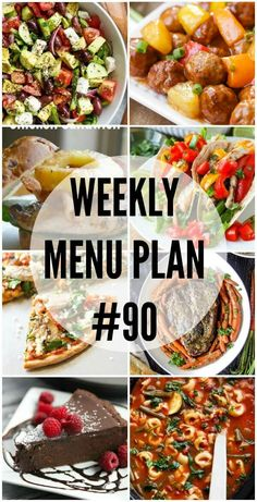 This week's Menu Plan is full of recipes that are easy to make and fun to eat! via @realhousemoms