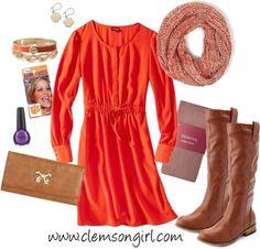 Clemson Girl Gameday Look - Orange Crush