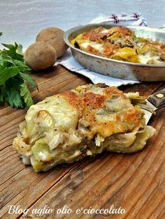 tortino di patate e carciofi-ricetta con carciofi veloce e semplice